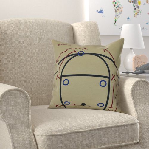 Zoomie Kids Bauer Motion! Throw Pillow