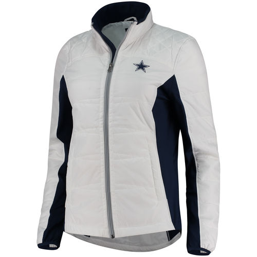 Women's White Dallas Cowboys Grand Slam Reversible Full-Zip Jacket by Dallas Cowboys Merchandise