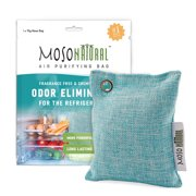 MOSO NATURAL: The Original Air Purifying Bag for Fridge and Freezer. an Unscented, Chemical-Free Odor Eliminator. More Powerful Than Baking Soda (Blue)