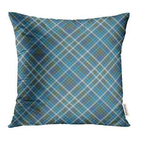 ARHOME Abstract Blue Check Plaid Flat Design Britain British Celtic Checkered Classic Pillowcase Cushion Cases 18x18 inch