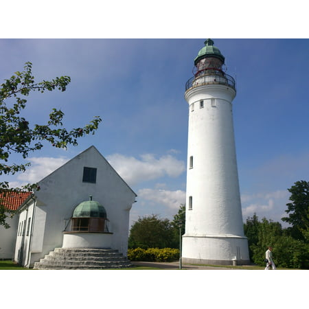 LAMINATED POSTER Old Denmark Tourism Lighthouse Building White Poster Print 24 x 36