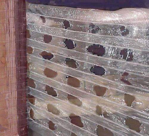 """Extended Core Vented Pallet Stretch Wrap 20"""" x 1500' 5 Rolls"""
