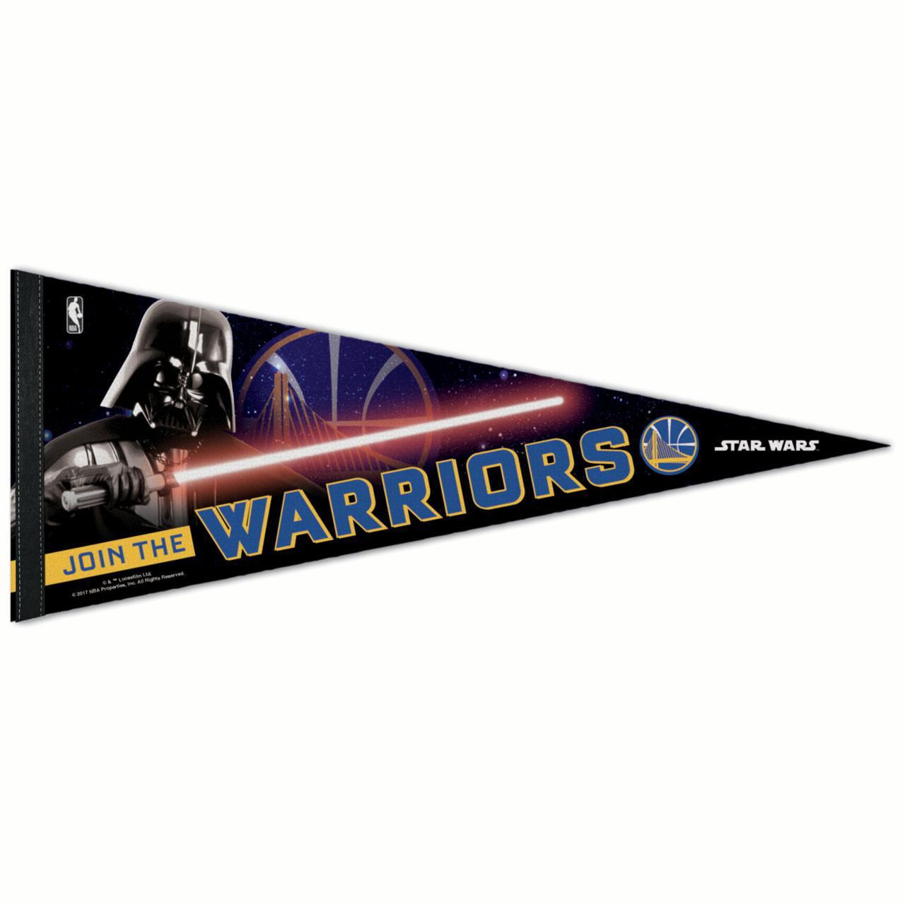 """Golden State Warriors WinCraft Star Wars Darth Vader 12"""" x 30"""" Premium Pennant - No Size"""