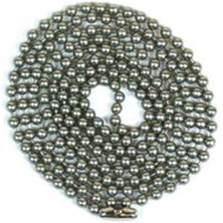 Jandorf 60324 Beaded Chain, #6, Brushed Pewter Brushed Pewter Pull Chain
