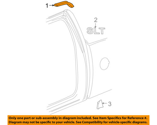 GM OEM Exterior-Cab-Roof Molding Right 22888223