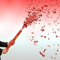 Red Rose Petals Confetti Cannon 24 Inch