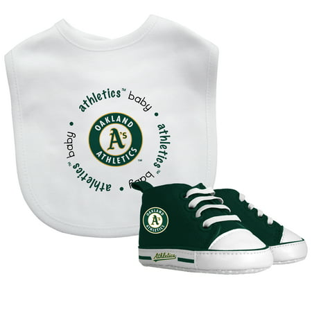 MLB Oakland Athletics Bib & Prewalker Baby Gift Set