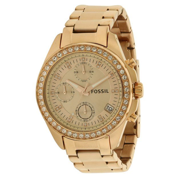 Fossil - Decker Rose Gold-Tone Chronograph Ladies Watch