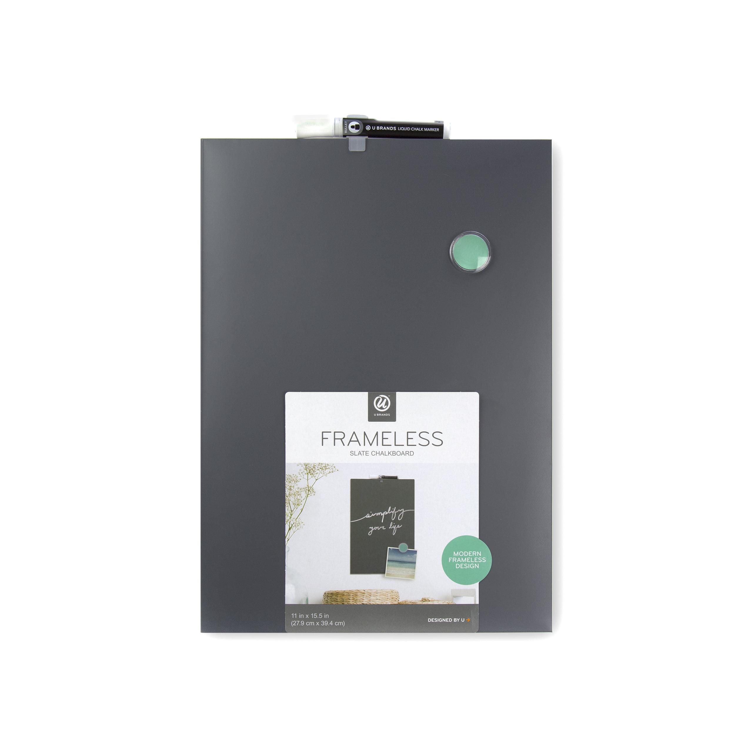 U Brands Magnetic Chalkboard, 11 X 15.5 Inches, Frameless by U Brands, LLC