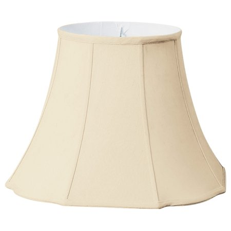 Scalloped Corner - Royal Designs Flare Bottom Outside Corner Scallop Basic Lamp Shade - Beige - 8 x 14 x 11