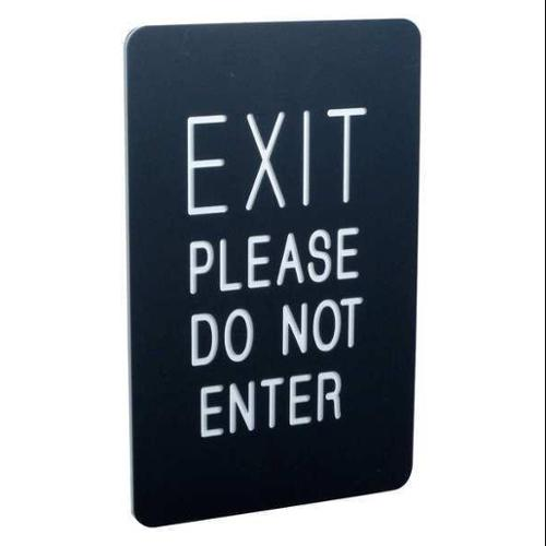 VISIONTRON 711P2-01-BK 7x11 Sign- EXIT/EXIT PLEASE DO NOT ENTER