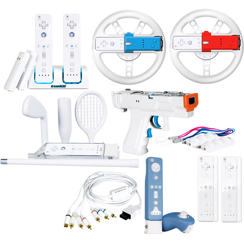 dreamGEAR 20 In 1 Mega Deal PLUS for Wii - Accessory kit - assorted colors - for NINTENDO Wii Remote Plus, Wii Remote with Wii MotionPlus; Nintendo Wii, Nintendo Wii 101