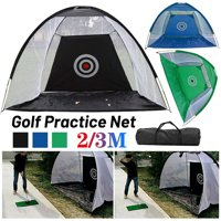 Foldable Golf Hitting Cage Training Aids Indoor Outdoor Sports Golf Cage Swing Trainer Chipping Net Backyard Garden Grassland Golf Practice Net