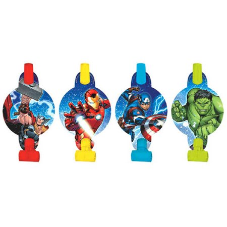 Avengers 'Epic' Blowouts / Favors (8ct)](Avengers Birthday Party Supplies)