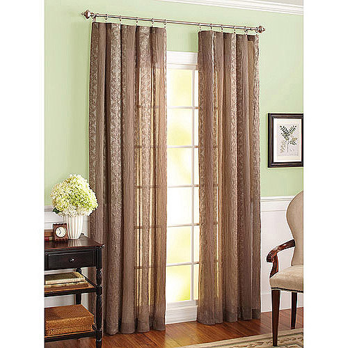 "Better Homes and Gardens Crushed Stripe 84"" Sheer Curtain"