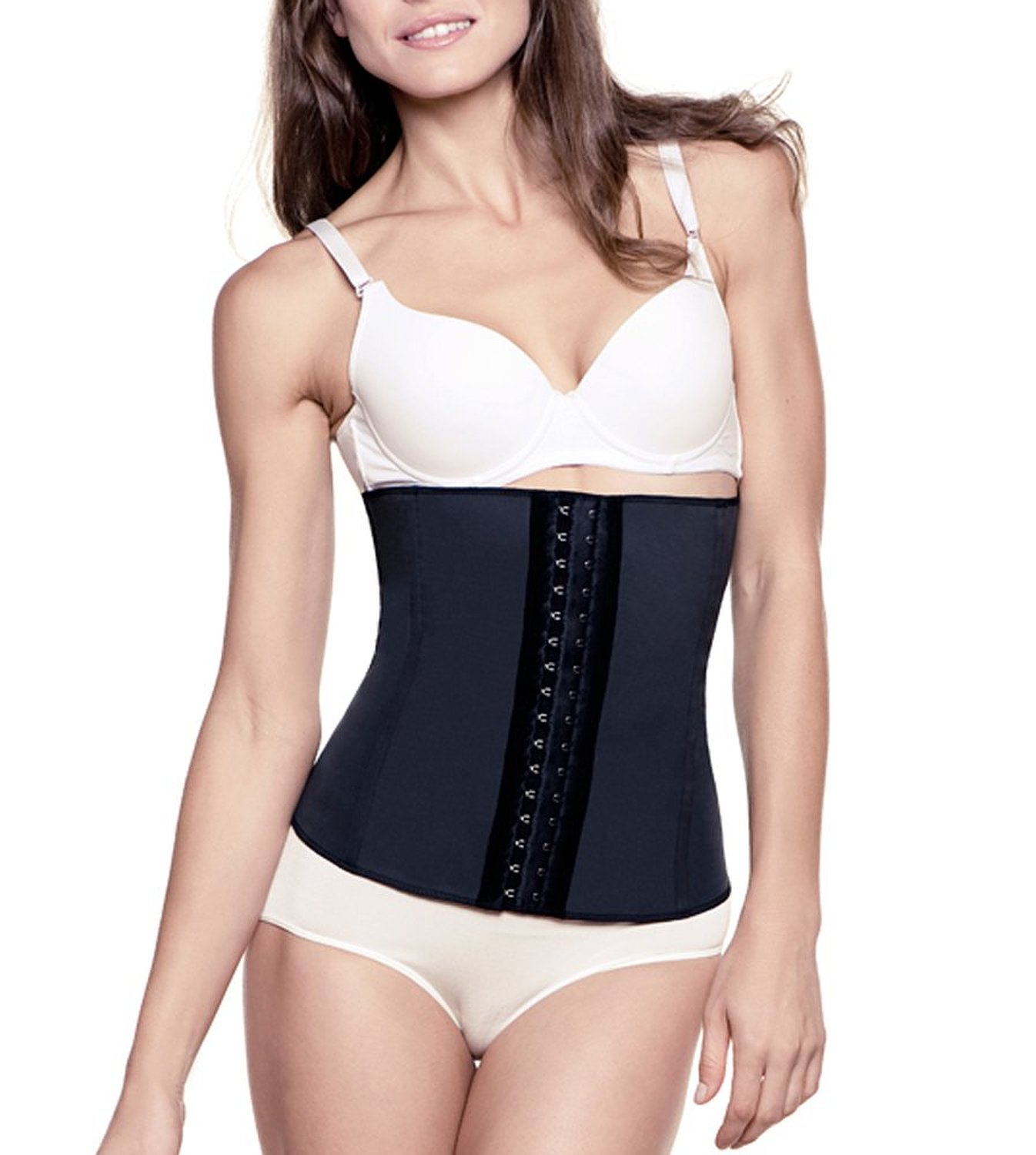 Classic Cincher Waist Trainer by Amia A102 Black