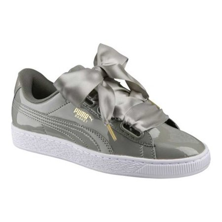 Puma 363073 12: Women's Basket Heart Patent Rock Ridge Sneaker (7.5 B(M) US)