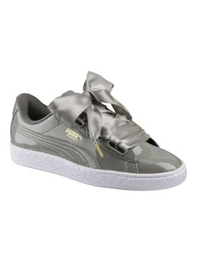 b6ca41a9e19a Product Image Puma Women s Basket Heart Patent Rock Ridge   Ankle-High  Fashion Sneaker - 9M