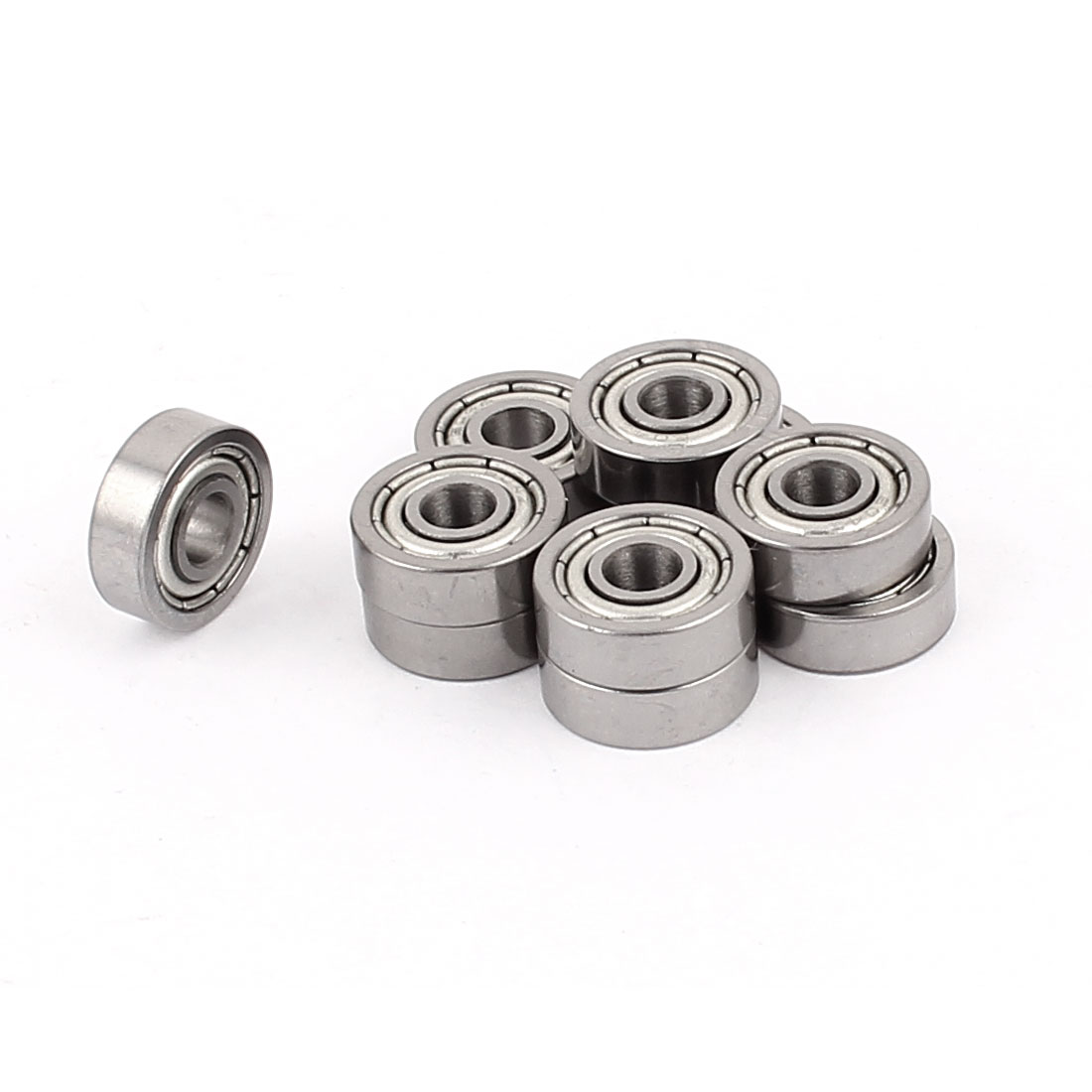 12mm x 4mm x 4mm Metal Sealed Double Shielded Deep Groove Ball Bearing 10Pcs by Unique Bargains