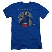 Supergirl Classic Hero Mens Slim Fit Shirt