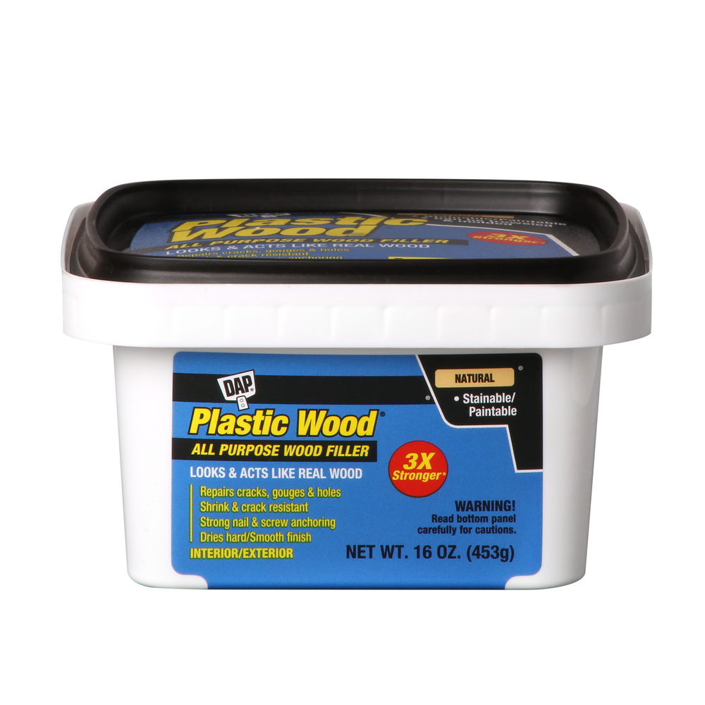 DAP Plastic Wood Latex Based Wood Filler, 16 oz, Natural