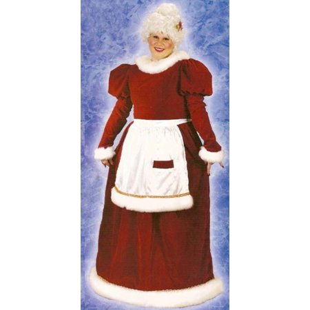 Mrs. Santa Claus Velvet  Christmas Costume - Women's Plus Size 16W-24W - Mrs Santa Claus Costume
