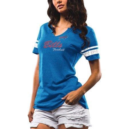 Buffalo Bills Majestic Women's Game Tradition Tri-Blend V-Neck T-Shirt - Royal 2002 Buffalo Bills