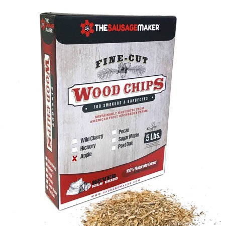 Apple Fine Cut Wood Chips  5 Lbs