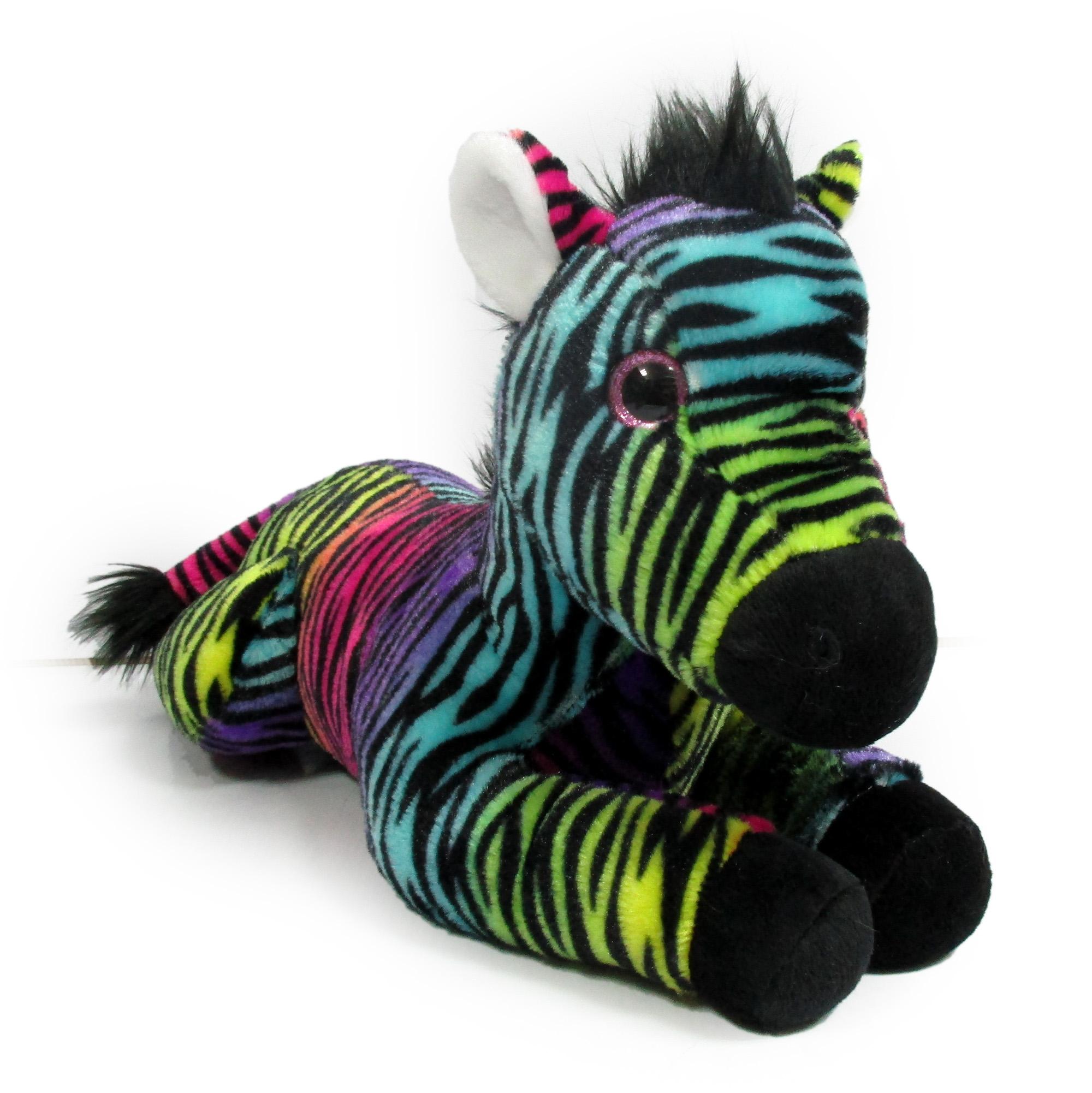 Plush Toy 19 L Floppy Rainbow Zebra Walmart Com