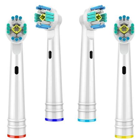 Chainplus Oral B 3D Replacement Brush Heads, Complete Care Replacement Tooth Brush Heads, 4 Count, EB18-P - image 2 de 8