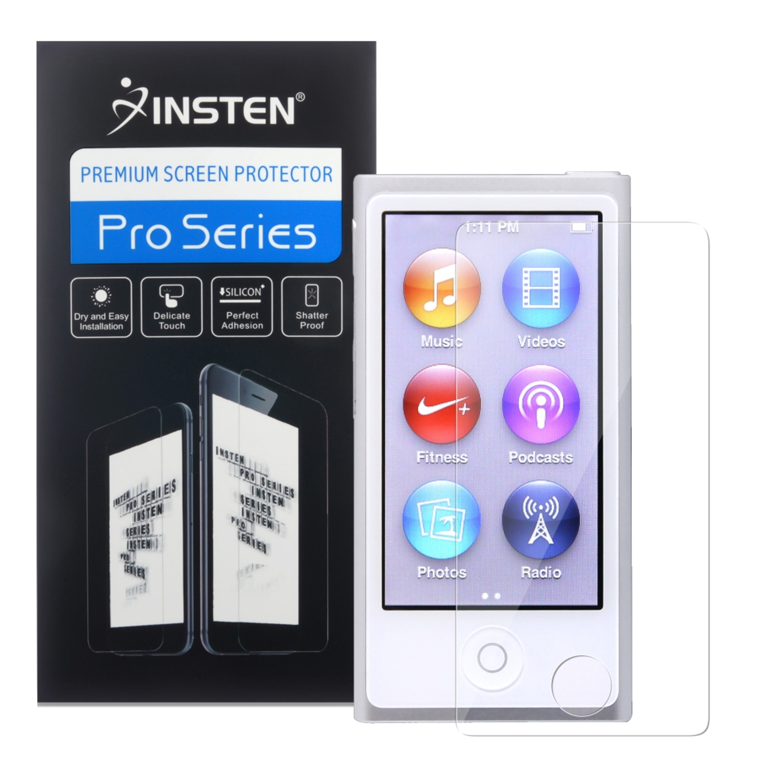 Insten Reusable Screen Protector For Apple iPod nano 7 7th Generation