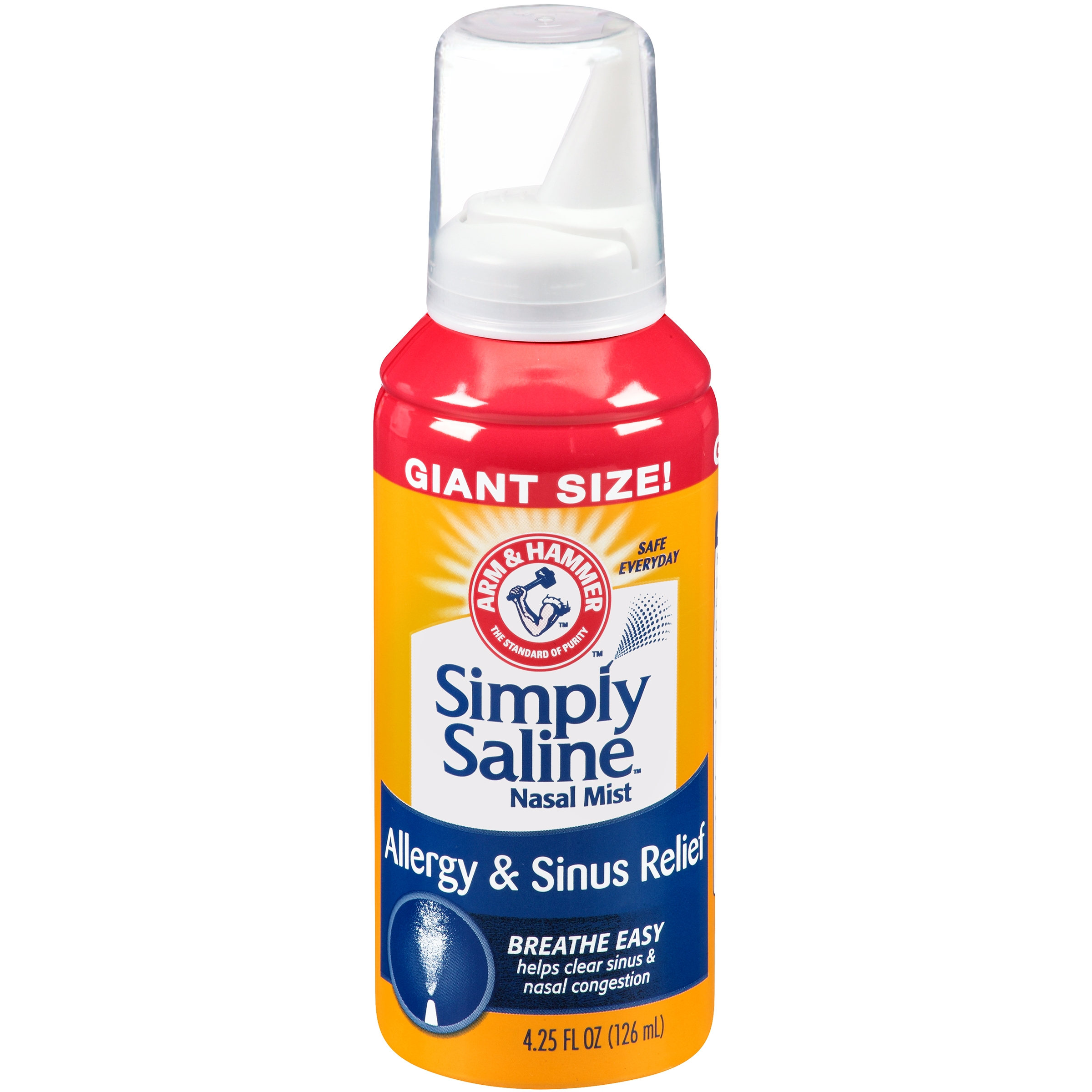 Arm & Hammer™ Simply Saline™ Allergy & Sinus Relief Nasal Mist 4.25 fl. oz. Aerosol Can