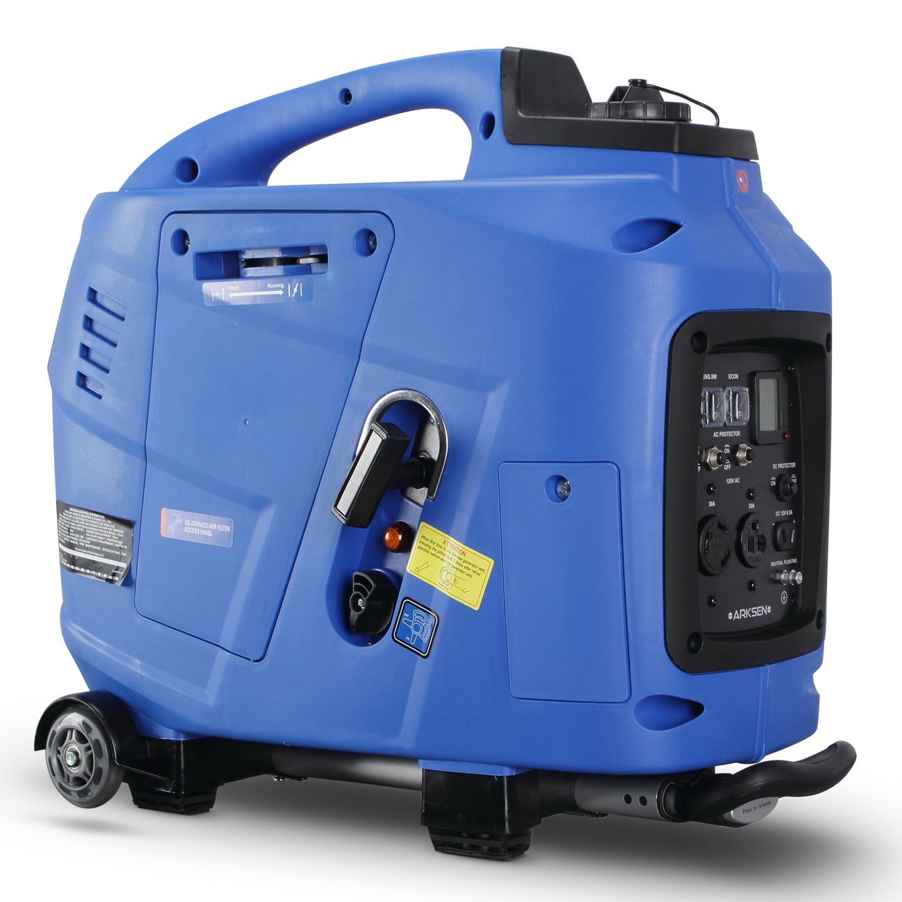 ARKSEN Portable Gas-Powered Generator 3600W Peak 3000W Rated RV Ready CARB EPA Compliant with Handle