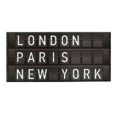 Torre & Tagus Departure Board London / Paris / NY Wall Art - Walmart.com