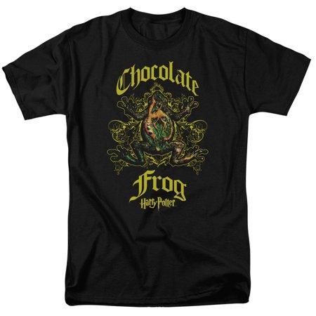 Harry London Chocolates - Trevco HARRY POTTER CHOCOLATE FROG Black Adult Unisex T-Shirt