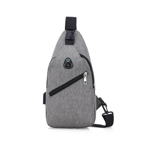 Mens Chest Bag Fashion Shoulder Backpack Sling Cross Body Man Satchel Travel Bag