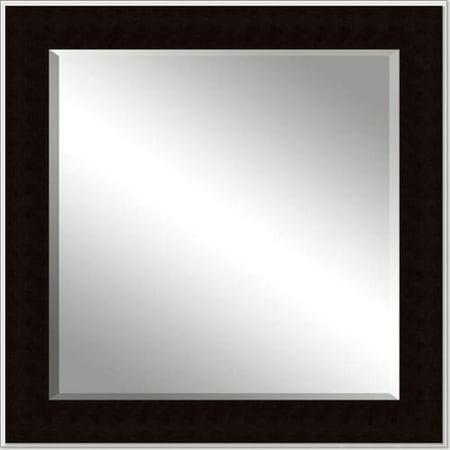 Framed beveled mirror dark espresso 36 x 48 for Mirror 48 x 36