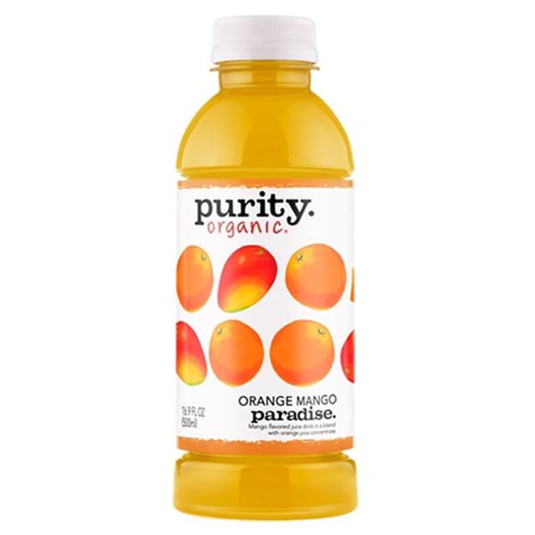 Purity Organic Orange Mango Paradise 16 oz Plastic Bottle...