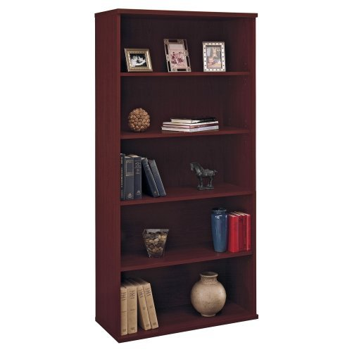 Bush Series C Open Double Bookcase - Mahogany