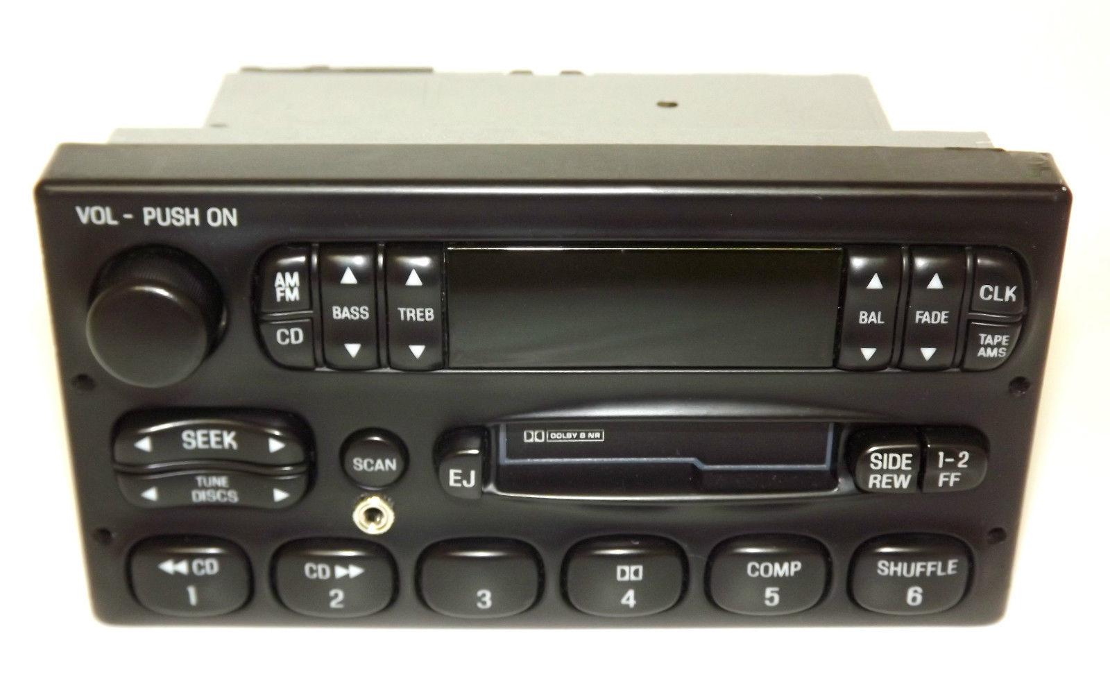 Ford Crown Victoria   Car Radio Am Fm Cassette Cd Control W Aux