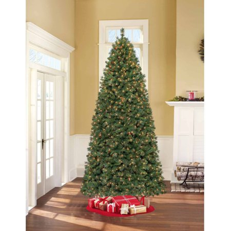 holiday time pre lit 9 lakeview pine artificial christmas tree clear lights - 9 Pre Lit Christmas Tree