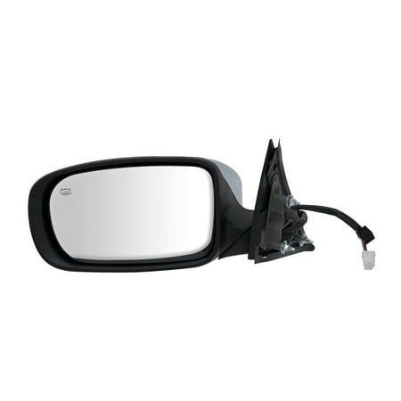 60606C - Fit System Driver Side Mirror for 11-18 Chrysler 300 Sedan, Code GTR, textured black w/ chrome cover, foldaway, w/o memory, Heated Power (Waves Gtr System)