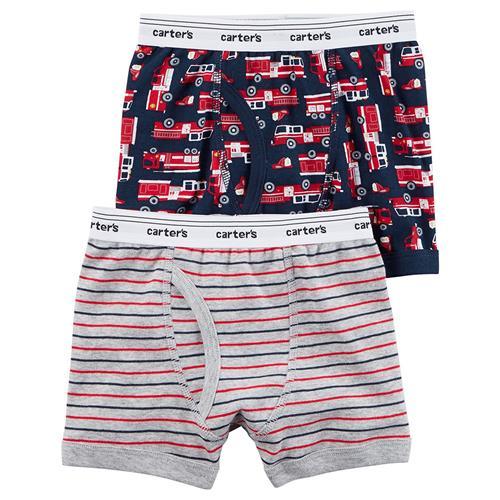 stripes NWT Carter/'s Boys Boxer Brief Underwear 2pair//pack Firetrucks