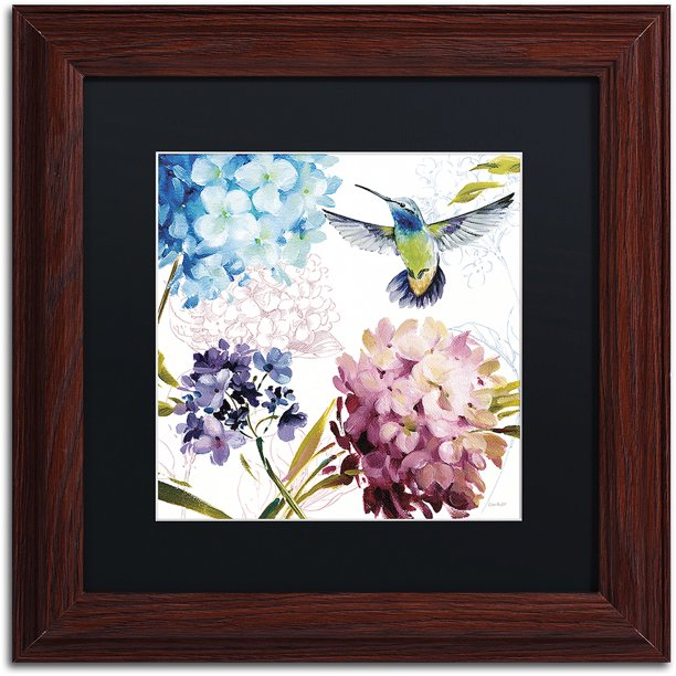Trademark Fine Art Spring Nectar Square Iii Canvas Art By Lisa Audit Black Matte Wood Frame Walmart Com Walmart Com