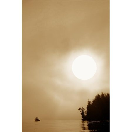 Boat On Lake Poster Print by Con Tanasiuk, 22 x 34 - Large - image 1 de 1