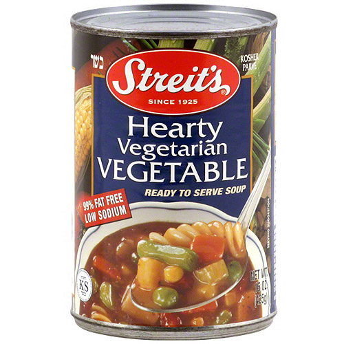 Streit's Vegetable Soup Ready To Serve Soup, 15 oz (Pack of 6)