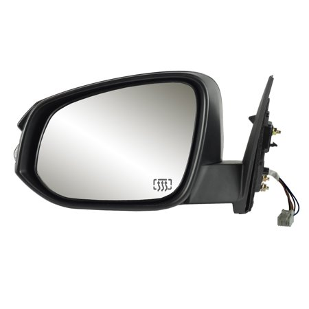 70184T - Fit System Driver Side Mirror for 14-17 Toyota Highlander, textured black w/ PTM cover, w/ turn signal, foldaway, w/o blind spot detection,