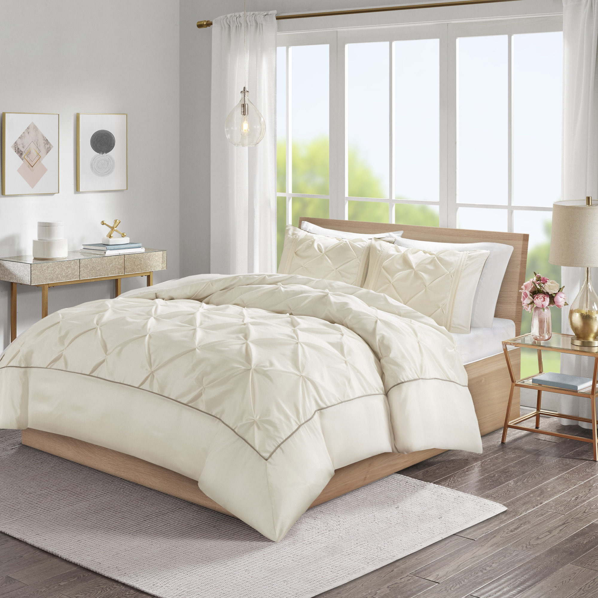 Home Essence Piedmont 3 Piece Tufted Duvet Cover Set