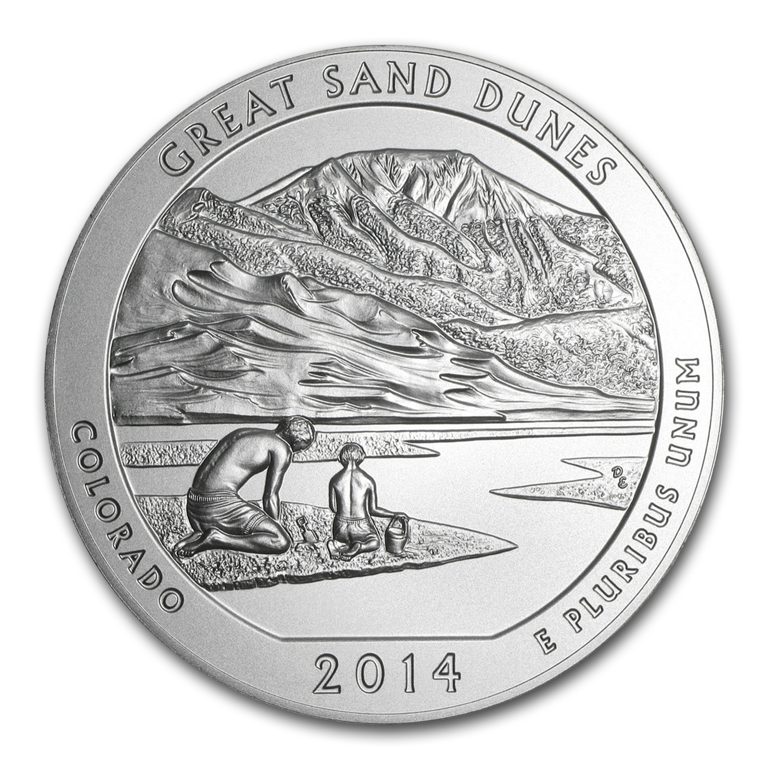 2014-P 5 oz Silver ATB Great Sand Dunes (w/Box & COA)