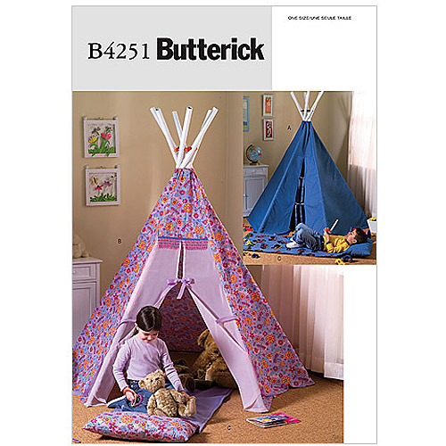 Butterick Pattern Teepee and Mat, 1 Size Only